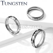 Faceted Dome Band Tungsten Carbide Rings