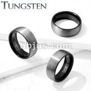 Brushed Finish Dome Surface and Black PVD Inside Tungsten Carbide Classic DomeRings