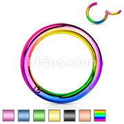 PVD OverHigh Quality Precision 316L Surgical Steel Hinged Segment Hoop Rings