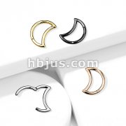 High Quality Precision All 316L Surgical Steel Crescent Hinged Segment Hoop Rings