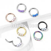 High Quality Precision 3-Opa Set All 316L Surgical Steel Hinged Segment Hoop Rings