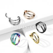 Implant Grade Titanium Hinged Segment Hoop Rings with Triple Hoops