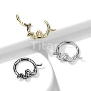 Implant Grade Titanium Snake Hinged Segment Ring