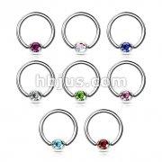160 pcs Press Fit Gem Set Ball 316L Surgical SteelCaptive Rings Bulk Pack (20 pcs x 8 Colors)