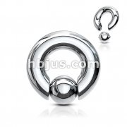 Spring Action Easy Pop Out Hand Polished316L Surgical Steel Ball Closure Rings