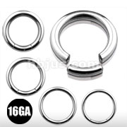 16G 316L S. Steel Segment Rings 80pc Pack (20pcs x 4 lengths, 5/16