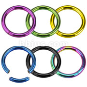 Titanium IP 316L Surgical Stainless Steel Segment Rings (6 colors x 20 pcs)