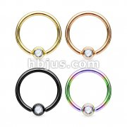 80 Pcs Jeweled Ball Captive Bead Ring IP Over 316L Surgical Steel Mix Bulk Pack (20 Pcs x 4 colors)