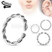 Braided Surgical Steel Annealed and Rounded Ends Cut Rings