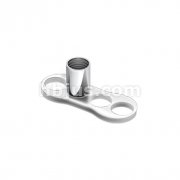 Grade 23 Solid Titanium Single Piece 2mm Post with 3 Hole Dermal Anchor