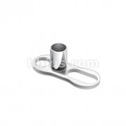 Grade 23 Solid Titanium Single Piece 2mm Post with 2 Hole Dermal Anchor