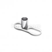 3mm Post with 2 Hole Dermal Anchor Grade 23 Solid Titanium Single Piece