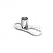 2 Hole Dermal Anchor Grade 23 Solid Titanium Single Piece
