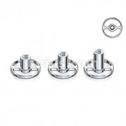 Round Base Dermal Anchor Grade 23 Solid Titanium Single Piece