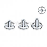 Round Base 4 Hole Dermal Anchor Grade 23 Solid Titanium Single Piece