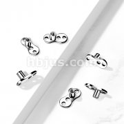 Implant Grade Titanium 3-Hole Internally ThreadedDermal Anchors