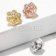 7 CZ Hexagonal Internally Threaded Dermal Top