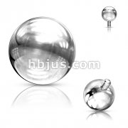 Ball for Internally Threaded Dermal Anchors 316L Surgical Steel .  Fits into our Dermal Anchors