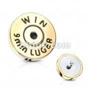 Bullet Back Casing Internally Threaded 316L Surgical Steel Dermal Top