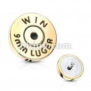 Bullet Back Casing Internally Threaded 316L Surgical Steel Dermal Top