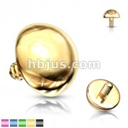 Dome Dermal Top Titanium IP Over 316L Stainless Steel Internally Threaded