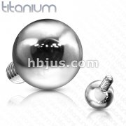 Ball Top Grade 23 Solid Titanium Internally Threaded
