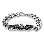 Flying Eagle Center Stainless Steel Chain Bracelets