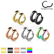 50 Pairs Classic Plain Dome 2.5mm Width Stainless Steel Earring Hoop Bulk Pack (10 Pair x 5 Colors)
