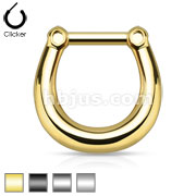 Plain Style 316L Surgical Steel Septum Clicker Ring