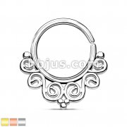 Vintage Filigree Bendnable Nose Septum and Ear Cartilage Hoops