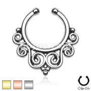 Tribal Swirls Non-Piercing Septum Hanger