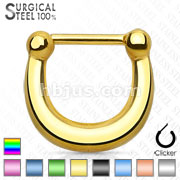 Plain All Titanium Anodized 316L Surgical Steel Septum Clicker