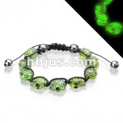 Bracelet with Glow in the Dark Skull Beads