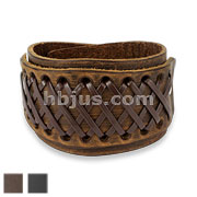 Cross Knotted Adjustable Leather Bracelets
