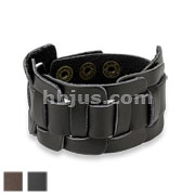 Square Knotted Center Adjustable Leather Bracelets
