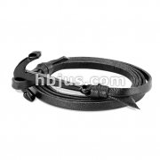 Black Plated Steel Anchor Adjustable Multi StripLeatherette Bracelets