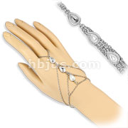 Triple Tear Drop Charms Slave Chain Bracelets