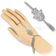 Hamsa Charm Slave Chain Bracelets