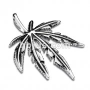 Pot Leaf Stainless Steel Pendant