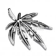 Pot Leaf Stainless Steel Pendant