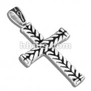 Braided Cross Stainless Steel Pendant