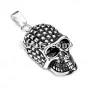 Spiked Head Skull Stainless Steel Pendant