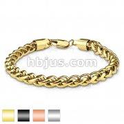 Round Spiga Chain Stainless Steel Bracelets