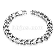 Thick Square Chain Links 316L Stainless Steel Bracelet