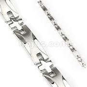 Wave Plate Link 316L Stainless Steel Bracelet