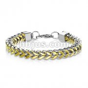 Box Weave Chain Link Stainless Steel Bracelet