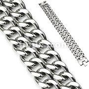 Dual Band Stainless Steel Bracelet
