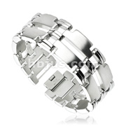 Mirrored T Links Duo Band 316L Stainless Steel Bracelet