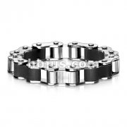 Roller Chain Duo Tone 316L Stainless Steel Bracelet