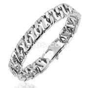 Z - Link Cast Flat 316L Steel  Bracelet